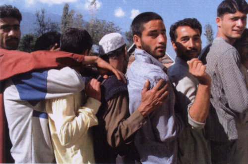 Voters Queueing up to Vote in the Kashmir Valley: October 2002
