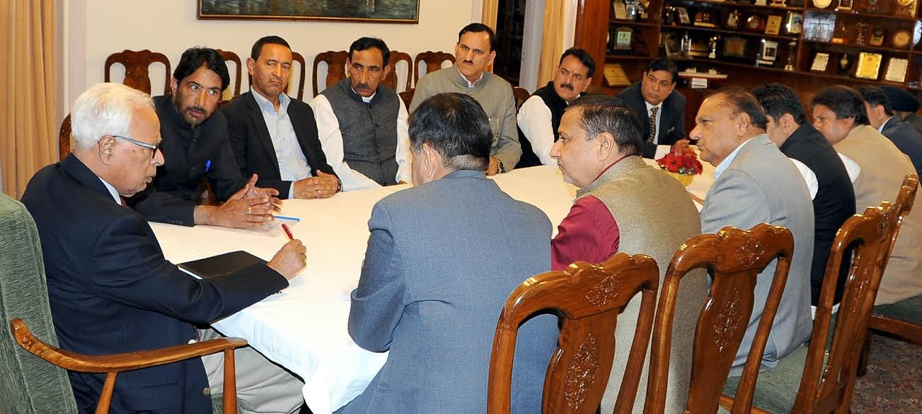 Congress Delegation Meets Governor Vohra